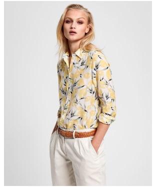 Women's GANT Lemon Cotton Silk Shirt - Mimosa Yellow