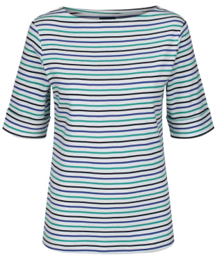 Women's Crew Clothing Orchid Stripe Top - Navy / Ultramarine / White