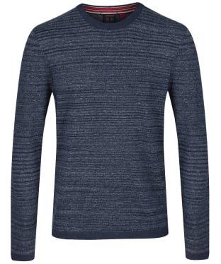Men's Musto Amalgam Crew Neck Knit - True Navy / White