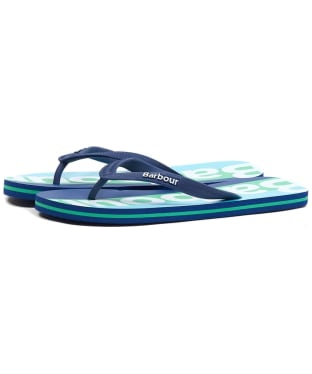 Men's Barbour Stripe Beach Sandals - Blue / Green