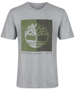 Men's Timberland Kennebec River Textured Box Tee - Grey Heather