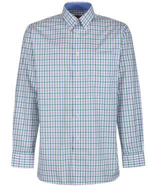 Men's Schoffel Holkham Shirt - Marine / Pink / Green