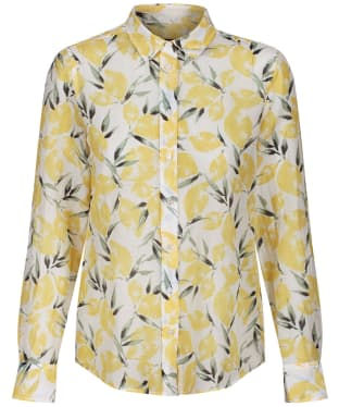 Women's GANT Lemon Cotton Silk Shirt - Mimosa Yellow
