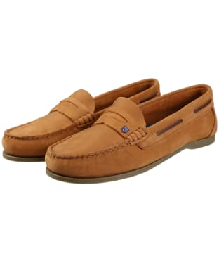 Women's Dubarry Belize Slip-on Deck Shoes - Caramel