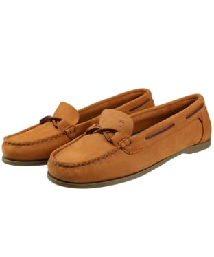 Women's Dubarry Rhodes Boat Shoes - Caramel