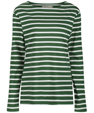 Women's Seasalt Sailor Shirt - Breton Hedgerow Chalk