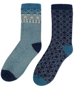 Women's Seasalt Cabin Socks – Pack of 2 - Decorative Mix