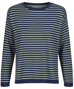 Women's Lily & Me Meadow Stripe Jumper - Navy / Pistachio