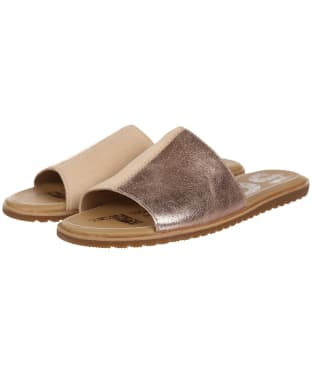 Women's Sorel Ella Block Slide Sandals - Natural Tan