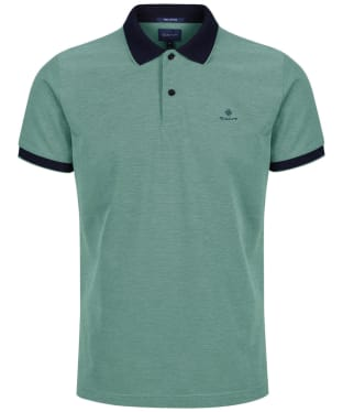 Men's GANT 4-Colour Polo Shirt - Four Leaf Green