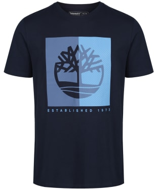 Men's Timberland Kennebec River Textured Box Tee - Dark Navy
