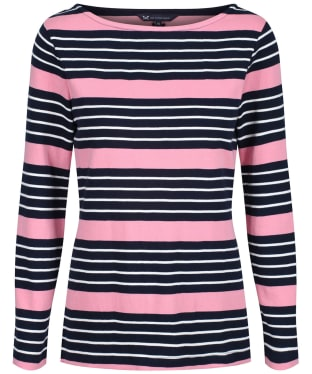 Women's Crew Clothing Wisteria Ultimate Breton Top - Flamingo Stripe