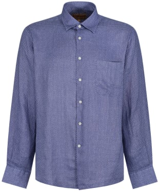 Men's Schoffel Thornham Shirt - Navy Dot