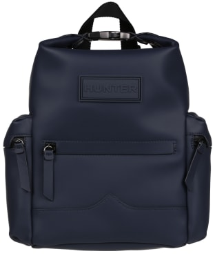 Hunter Original Mini Top Clip Backpack - Rubberised Leather - Navy