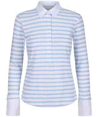 Women's Schöffel Salcombe Shirt - Harbour Stripe Cornflower Blue