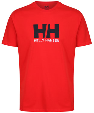 Men's Helly Hansen Logo T-Shirt - Alert Red