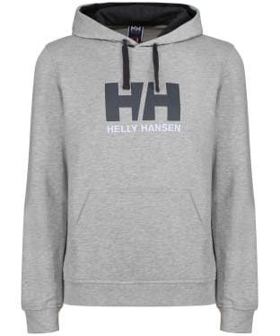 Men's Helly Hansen Logo Hoodie - Grey Melange