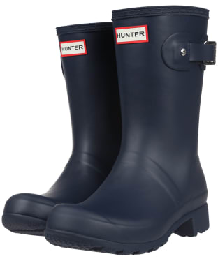 Women's Hunter Original Tour Short Wellington Boots - Navy