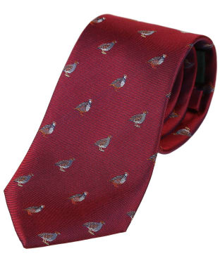 Men's Soprano Partridge Tie - Wine