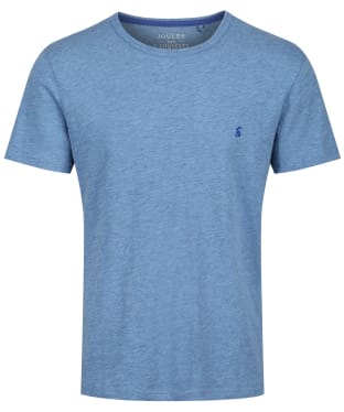 Men's Joules Denton Solid Crew Neck T-Shirt - Blue Mid Marl