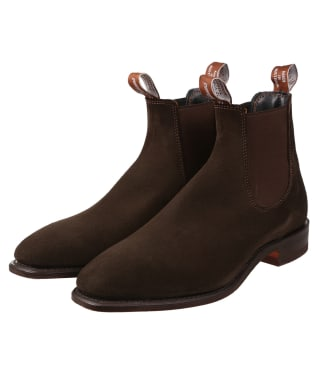 Men's R.M. Williams Comfort Craftsman Boots – Suede leather, Leather sole – H (Wide) Fit - Chocolate