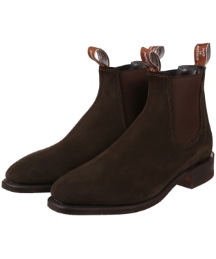 Men's R.M. Williams Comfort Craftsman Boots – Suede leather, Comfort Rubber Sole – H (Wide) Fit - Chocolate