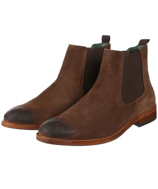Men's Barbour Bedlington Chelsea Boots - Chocolate Suede