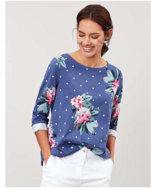 Women's Joules Harbour Print Top - Spot Blue Floral