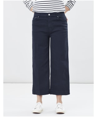 Women's Joules Connie Wide Leg Cropped Jeans - French Navy