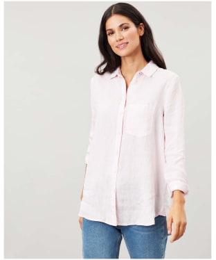 Women's Lorena Longline Woven Shirt - Pale Pink