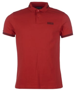 Men's Barbour International Essential Tipped Polo Shirt - Lava