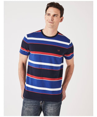 Men's Crew Clothing Okeman Tee - Blue Red White