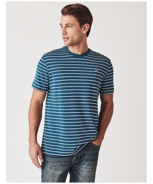 Men's Crew Clothing Marshaw Striped Tee - Blue / White
