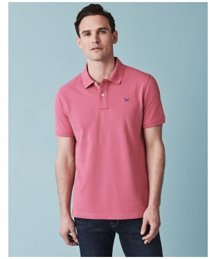 Men's Crew Clothing Classic Pique Polo Shirt - Rose