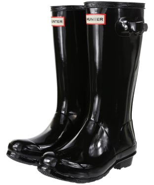 Hunter Original Kids Gloss Wellington Boots, 7-11 - Black