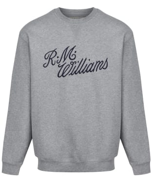 R.M. Williams Script Crew Neck Sweater - Grey / Blue