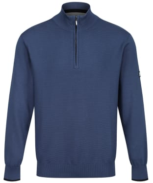 Men's Dubarry Borsna Zip Neck Sweater - Denim