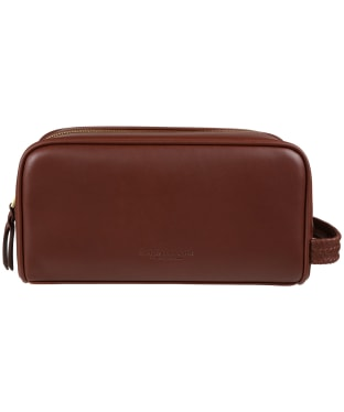 R.M. Williams City Leather Washbag - Chestnut