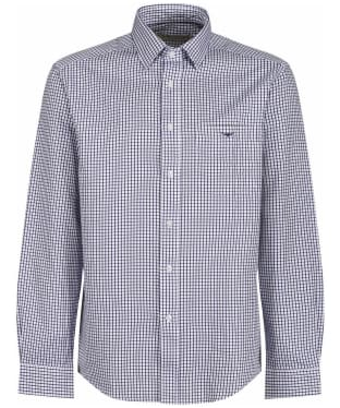 Men's R.M. Williams Collins Cotton Twill Shirt - Navy / White