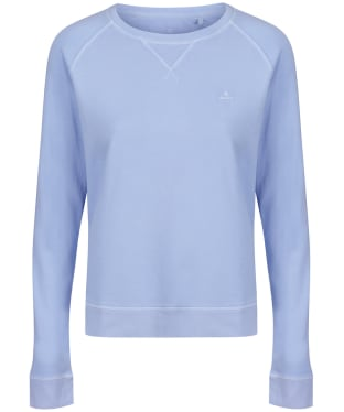 Women's GANT Sunfaded Crew Neck Sweatshirt - Hamptons Blue