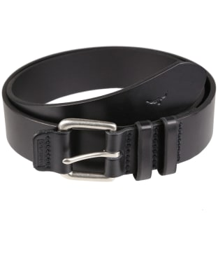 "Men's R.M. Williams 1 1/2"" Covered Buckle Belt - Black"