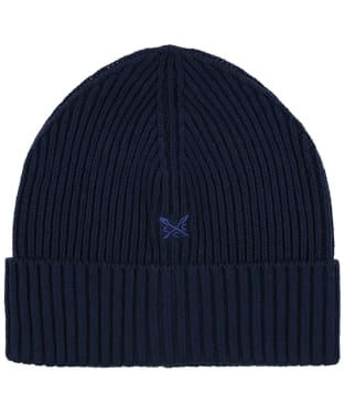Men's Crew Logo Beanie Hat - Navy