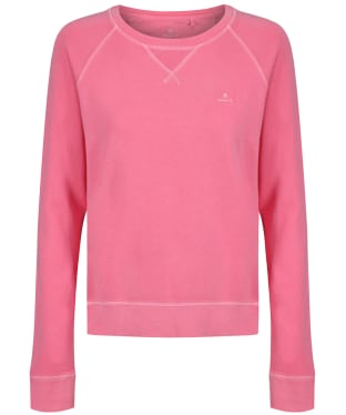 Women's GANT Sunfaded Crew Neck Sweatshirt - Rapture Rose