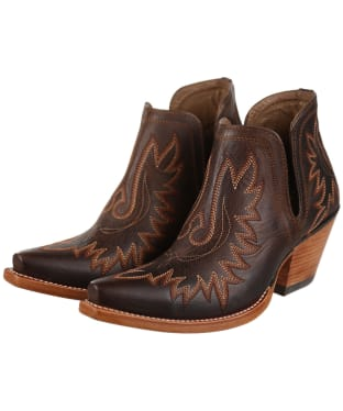 Women's Ariat Dixon Western Boots - Weathered Brown