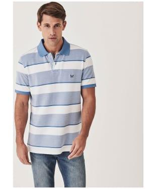 Men's Crew Clothing Oxford Polo Shirt - Blue / White