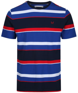 Men's Crew Clothing Okeman Tee - Blue Red White