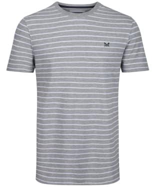 Men's Crew Clothing Marshaw Striped Tee - Grey Marl / White