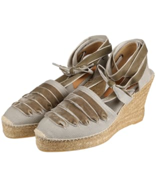 Women's Penelope Chilvers High Sevillana Dali Espadrille Sandals - Putty