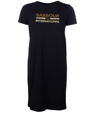 Women's Barbour International Thunderbolt Dress - Black