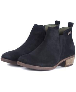 Women's Barbour Healy Chelsea Boots - Black Suede